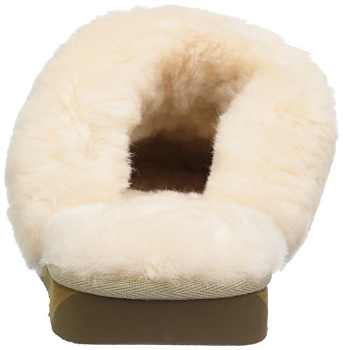 Collective 206 Suede Women's Shearling Roosevelt Slide Slipper Sand 4wTdq