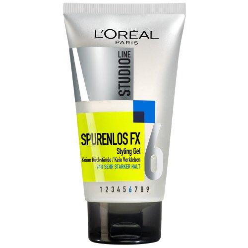L'Oréal Paris Studio Line Haar-Gel Spurenlos FX Styling Gel / 24h starker Halt (ohne zu verkleben, ohne Rückstände zu hinterlassen) 1 x 150 ml