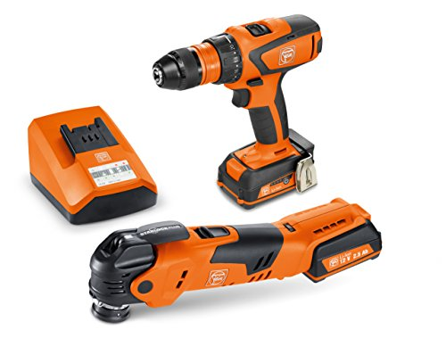 FEIN ASCM12/AFMT 12QSL Cordless Combo Drill/Driver and StarlockPlus Oscillating Multi-Tool with snap-fit accessory change -  71901261090