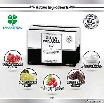 30caps.gluta Panacea B&v L-glutathione 15000mg/rose Hip Skin Whitening No Acne+track