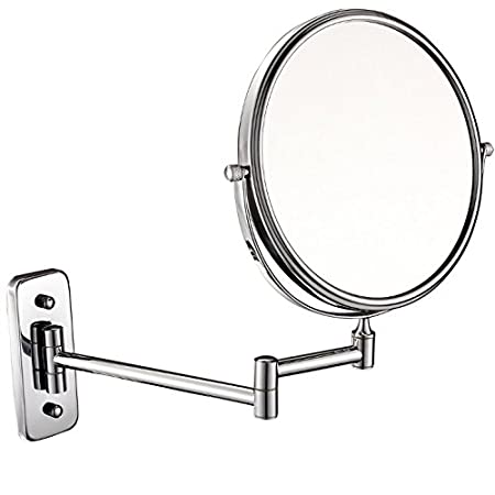 8in,7x GuRun 8-inch double-sided Wall Mount Makeup Mirror with 7x Magnification,Chrome Finish M1407