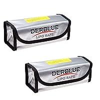 DerBlue 2pcs Fireproof Explosionproof Lipo Battery Safe Bag Lipo Battery Guard Safe Bag?185x75x60mm?