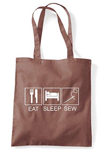 Funny Bag Eat Hobby Tiles Tote Activity Shopper Chestnut Sleep Sew 0qag1