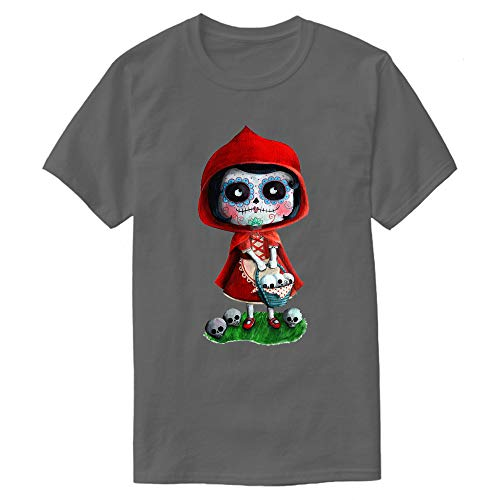 Men's Dead Red Riding Hood T Shirt Gift Idea Novelty Graphic Humor Sarcastic Cool Very Funny Tees M Dark Grey