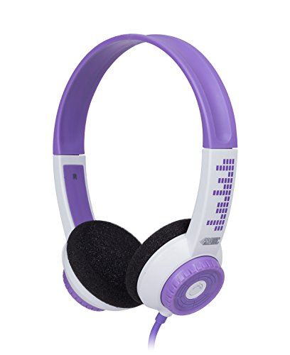 FSL Protec Kids Headphones with Adjustable Volume Limiting (Purple)