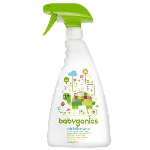 Price comparison product image Babyganics Tub & Tile Cleaner, Fragrance Free 32 oz(pack of 2)