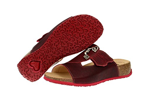 83795 Mizzi Rosso Red Pantolette Think 72 3 Dunkelrot Top Low Womens Think qxw0WfRUWE