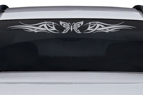 Sticky Creations - Design #126-01 Butterfly Tribal Windshield Decal Sticker Vinyl Graphic Back Rear Window Banner Tailgate Car Truck SUV Van Go Cart Boat Trailer Wall | 36