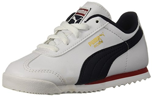 (PUMA Baby Roma Basic INF Sneaker, White-Night Sky, 8 M US Toddler)