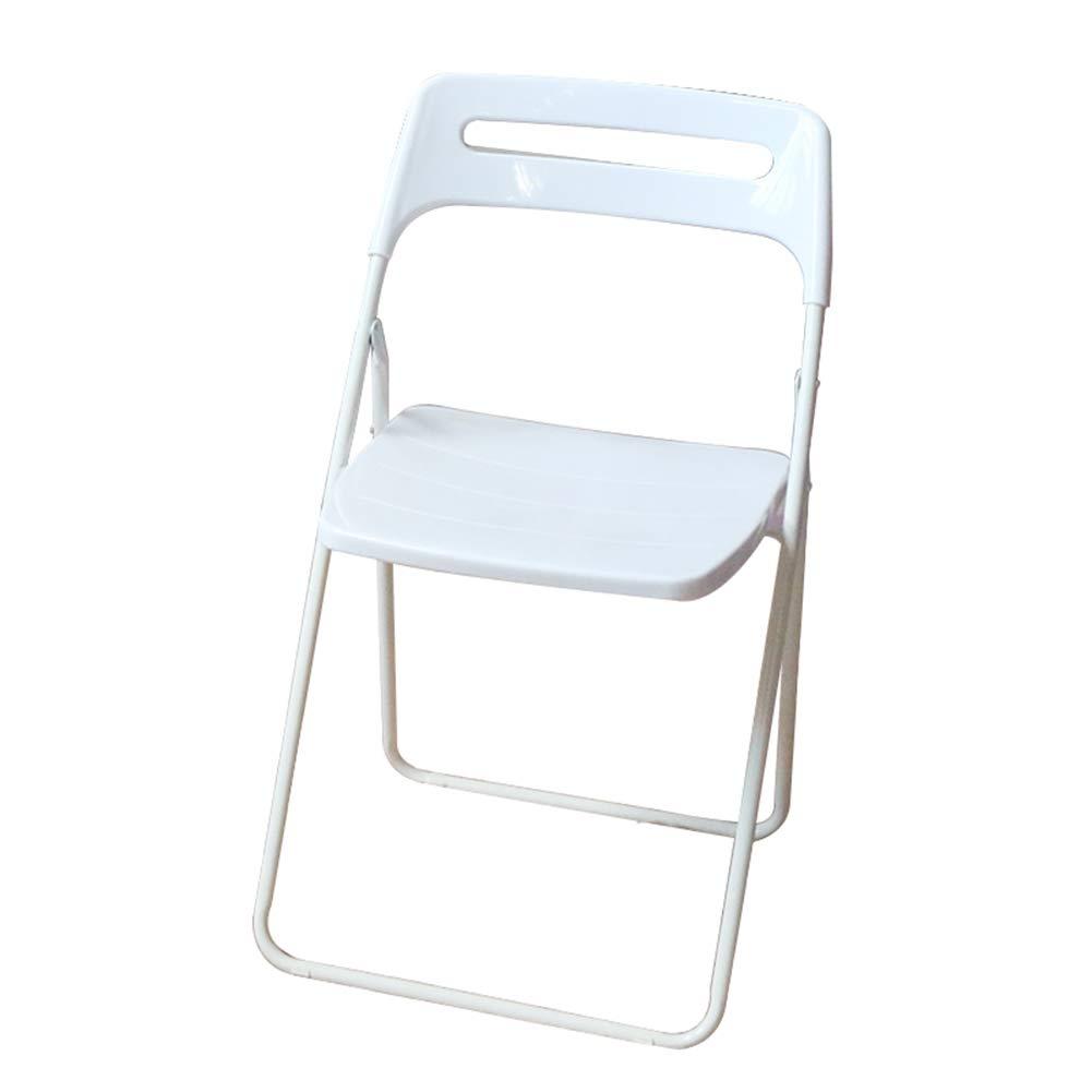Portatile Sedia Pieghevole Ultra Leggero Viaggio Fold Household Office Portable Plastic Selection Scelte Multiple ZHAOFENGE (colore   Bianca, Dimensioni   44  43  78cm)