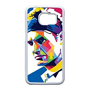 Roger Federer Caja de pinturas H6D58X8UD funda Samsung Galaxy S6 funda 3BG3P6 blanco