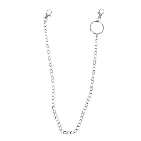 MoonWANG - Llavero largo de metal con cadena tipo cartera ...