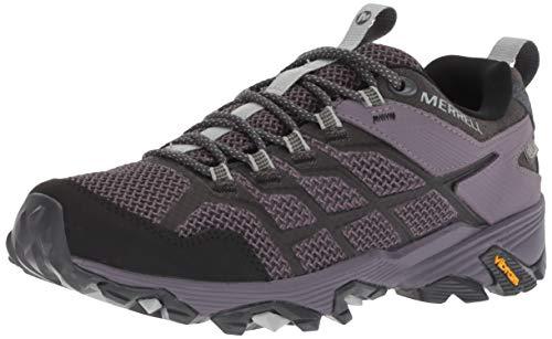 Merrell Women's Moab FST 2 Waterproof Hiking Shoe, Granite/Shark, 08.5 M US
