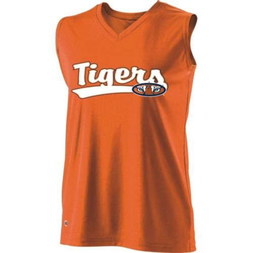 Auburn Tigers Child Uniform (SLEEVELESS V-NECK AUBURN TIGERS Girls Curve Dry-Excel ADULT LARGE Licensed NCAA College Replica Jersey)