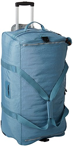 Kipling Women's Discover Solid Large Wheeled Duffle Bag, Blue Bird by Kipling
