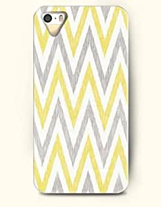 SevenArc Aztec Indian Chevron Zigzag Pattern Hard Case for Apple iPhone 4 4S ( Yellow And Grey Waves Chevron )
