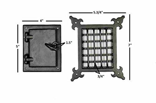 a29-speakeasy-door-grill-with-viewing-door-black-powder-coat-finish-medium-size