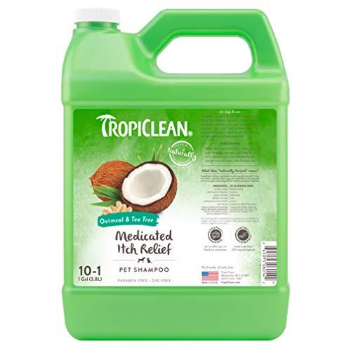 TropiClean Oatmeal & Tea Tree Medicated Dog Shampoo, 1 Gallon