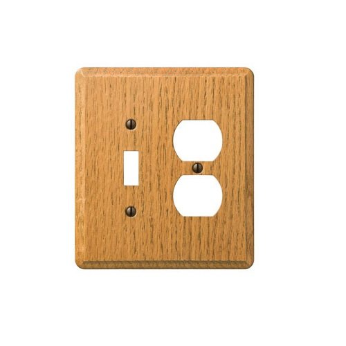 AmerTac 901TDL 1 Toggle/1 Duplex Traditional Oak Wood Wallplate