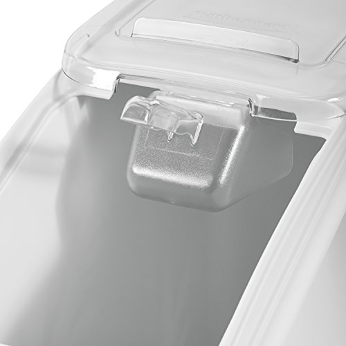 Rubbermaid Commercial ProSave Shelf-Storage Ingredient Bin With Scoop, Plastic, Stackable, 400-cup capacity, White, (FG360088WHT) by Rubbermaid Commercial Products (Image #4)