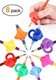 Pencil Grips, JARLINK Pencil Grips for Kids Handwriting Aid Grip Trainer Posture Correction Finger Grip for Kids, Adults, Arthritis Designed for Righties or Lefties (8PCS)
