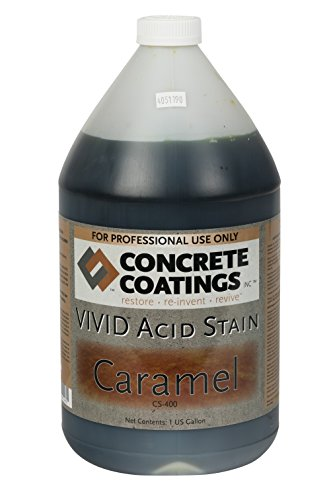 VIVID Acid Stain - 1 Gal - Caramel (Light, Yellowish Brown) (Concrete Acid Stain Colors)