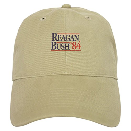 CafePress Reagan Bush '84 Baseball Cap with Adjustable Closure, Unique Printed Baseball Hat Khaki