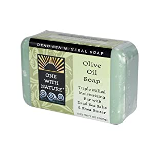 One With Nature Olive Oil Dead Sea Mineral Soap, 7 Ounce Bar by One With Nature