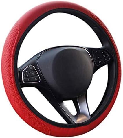 Juhon 車のステアリングホイールカバー 滑り止め耐久性のあるホイールプロテクター 車トラックSUVの普遍的なフィット 8色