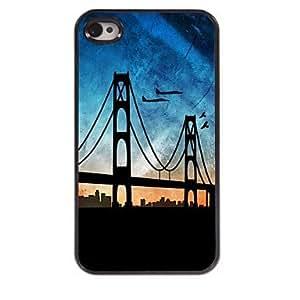 Puente de Londres y el caso duro de diseño plano de aluminio para el iphone 4 / 4s