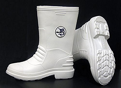 Boot Fishing Boat - Marlin White Rubber Boots Size: 11
