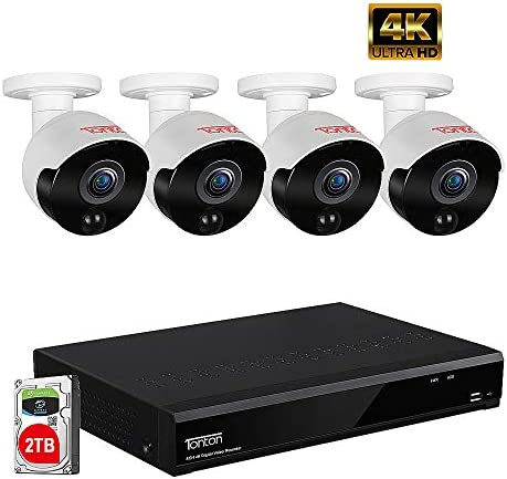 Tonton Expandable 5MP Home Security Camera System,8-Channel Ultra HD 4K 8MP DVR Recorder