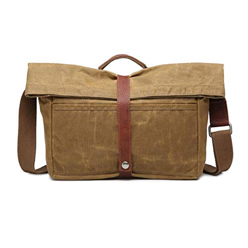 Body Satchel Everyday day Canvas Men's Handbag Lightcoffee Cross Work Shoulder Ppge Totes Crossbody Bag Messenger Travel 8qFa4B