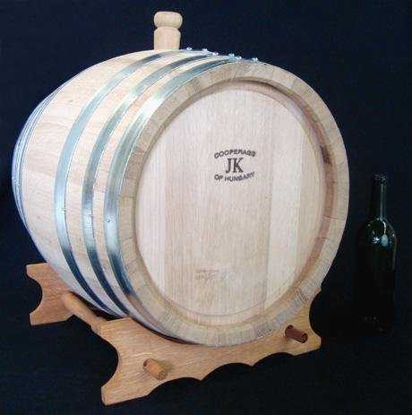 Hungarian Oak Wine Barrel with Stand- 48 Liters (12.5 Gallons)