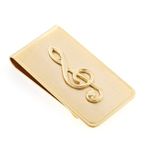 JJ Weston Treble Clef Music Money Clip. Made in the USA.