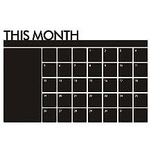 Kaimao Chalkboard Calendar Wall Sticker Blackboard Organizer- Wall Decal Agenda Monthly Planner for Home, Kitchen, Office, Dorm, Fridge Memo
