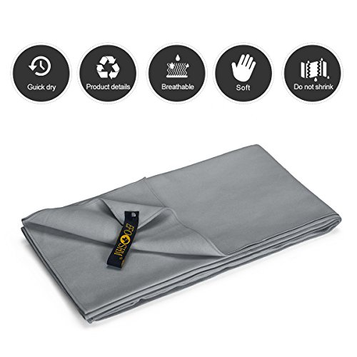 EFOSHM Microfiber Towel, Fast Drying Towel, Sup...