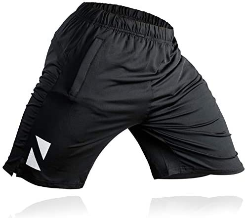 Athletic Workout Shorts Zipper Pockets product image