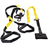 Matchu Sports - Suspension trainer - Allround fitnesstrainer - Volledig pakket - Zwart/geel - Perfect voor een allround…