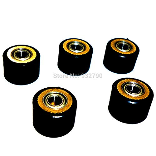 FINCOS 1/2/3/4/5/6/10pcs Pinch Roller 4x10mmx14mm Roller Bearing for Roland Cutting Plotter Vinyl Cutter Paper Pressing Wheel - (Color: 5pcs) by FINCOS (Image #1)