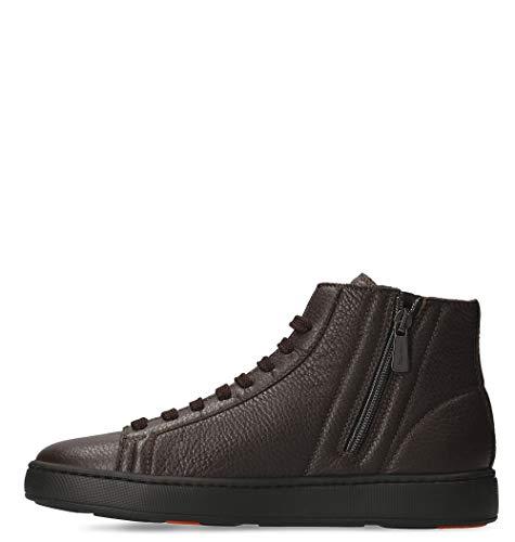 Sneakers Santoni Uomo Mbcn2086na6raydt50 Pelle Marrone Szzqrd