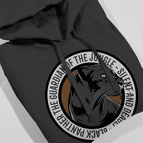 Hooded Guardian Black Women's The Of Sweatshirt Coto7 Badge Charcoal Jungle Panther B0pqxwd8