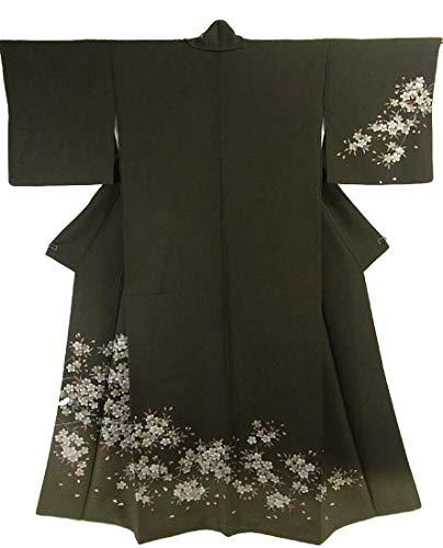コマンドそれら終わりリサイクル 着物 正絹 袷 訪問着 咲き誇る桜 エレガント 裄66.5cm 身丈161cm