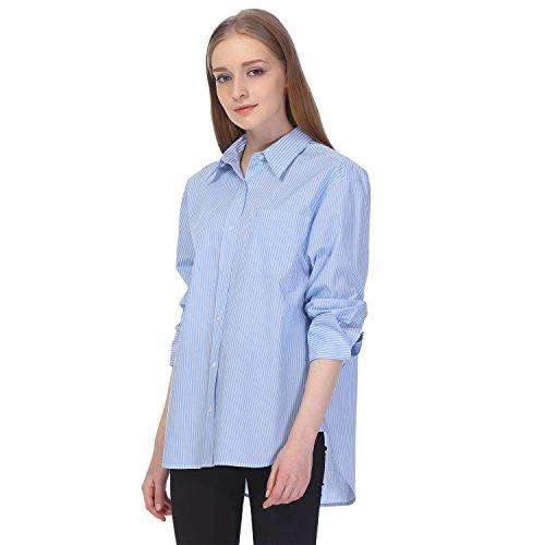Essentialist-Womens-Cotton-Oversized-Boyfriend-Wide-Cuff-Shirt