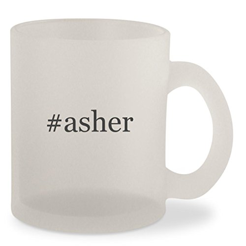 #asher - Hashtag Frosted 10oz Glass Coffee Cup Mug (Chocolate Free Sugar Covered Pretzels)