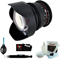 Rokinon 14mm T3.1 Cine Super Wide Angle Lens for Canon + Accessory Kit