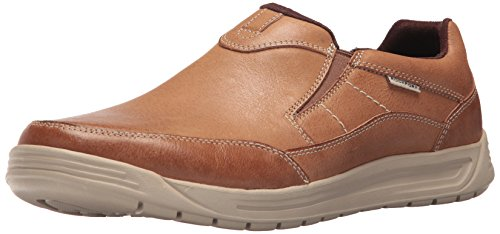Rockport Men's Randle Slip-On Shoe, Boston Tan, 11 W - Brown Rockport