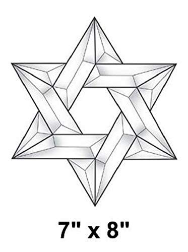 (Clear Beveled Glass Jewish Star Kit - Star of David E210C 7 x 8 Inches)