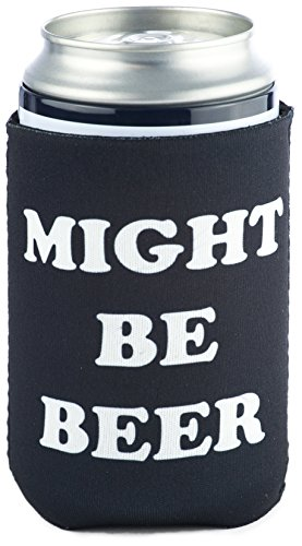 (Funny Guy Mugs Might Be Beer Collapsible Neoprene Can Coolie - Drink Cooler)