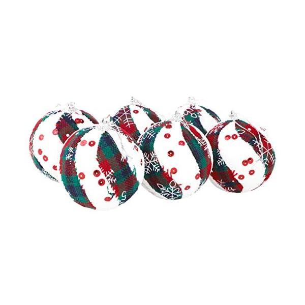 Christmas Concepts® Confezione da 6 Palline di Natale in Design Scozzese - Decorazioni Natalizie di Lusso (Fiocco di Neve) 3 spesavip